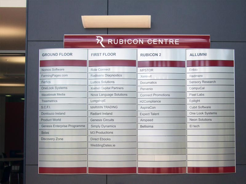 Rubicon curved directories wall