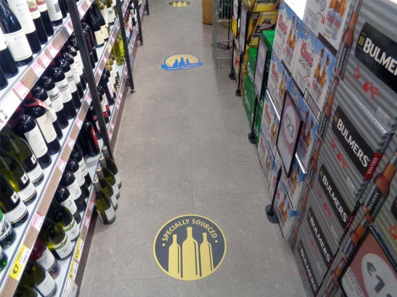 Supervalu floor graphics