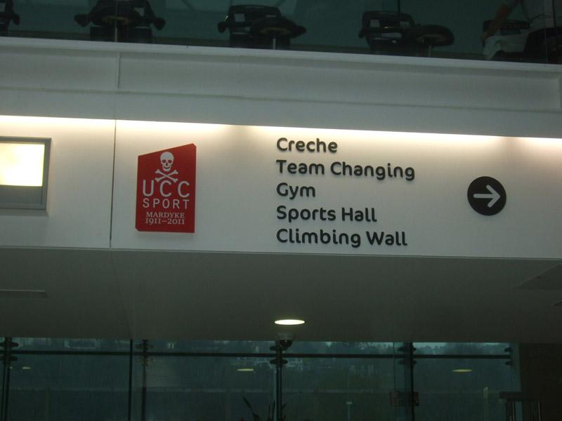 UCC Sport 5mm black foamex lettering