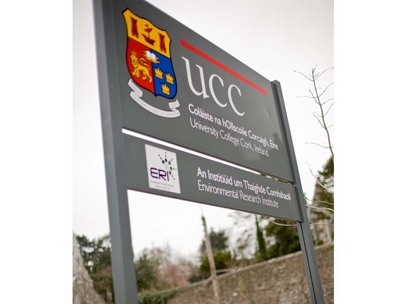 UCC old branding - post panel system