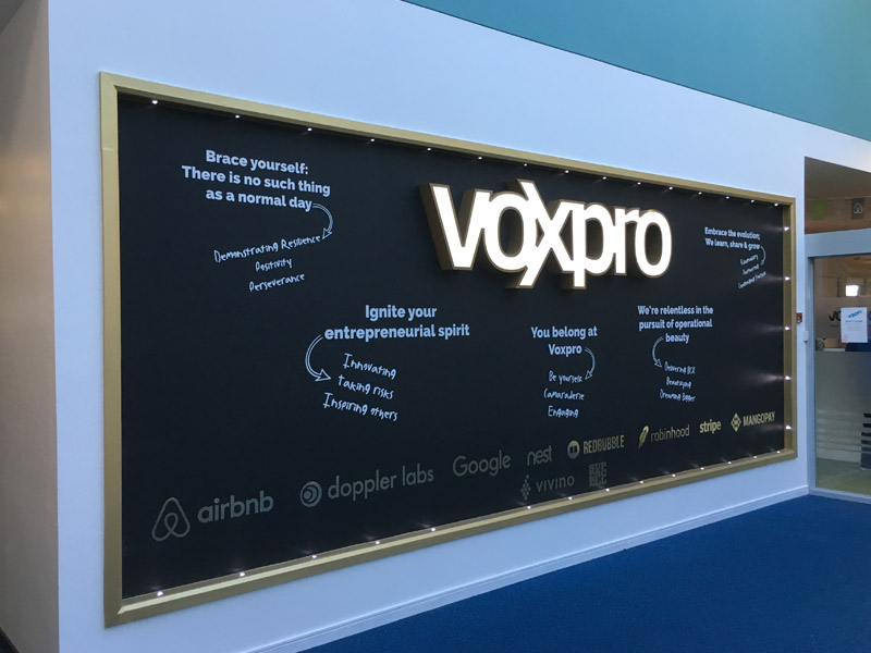 Voxpro Illuminated Sign 3