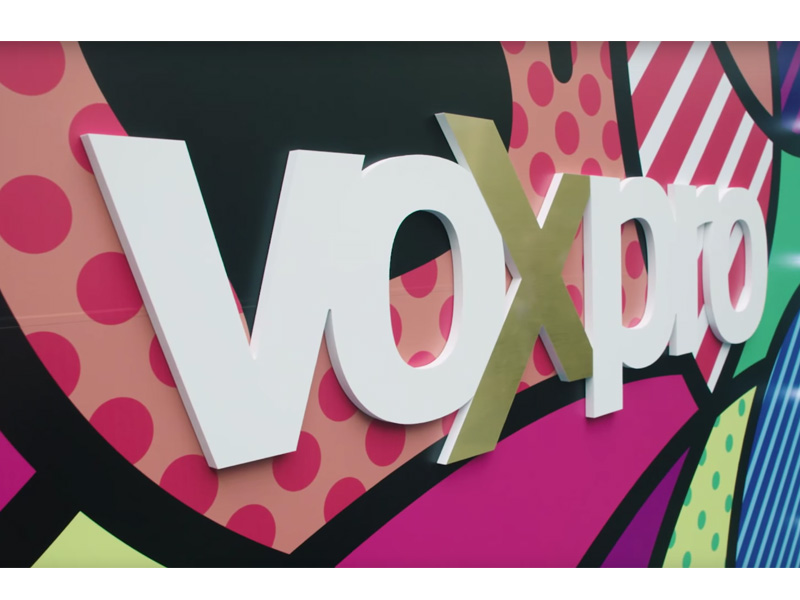 Voxpro Interior Raised Lettering