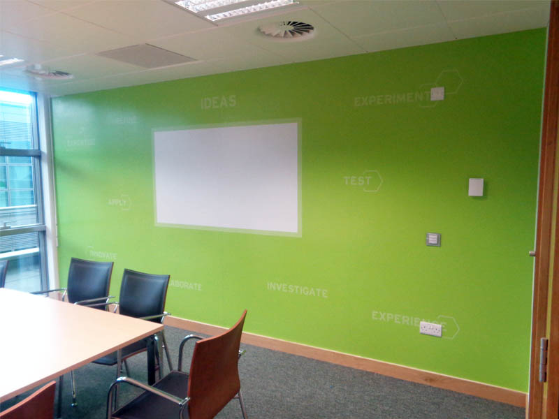 Whiteboard wall vinyl