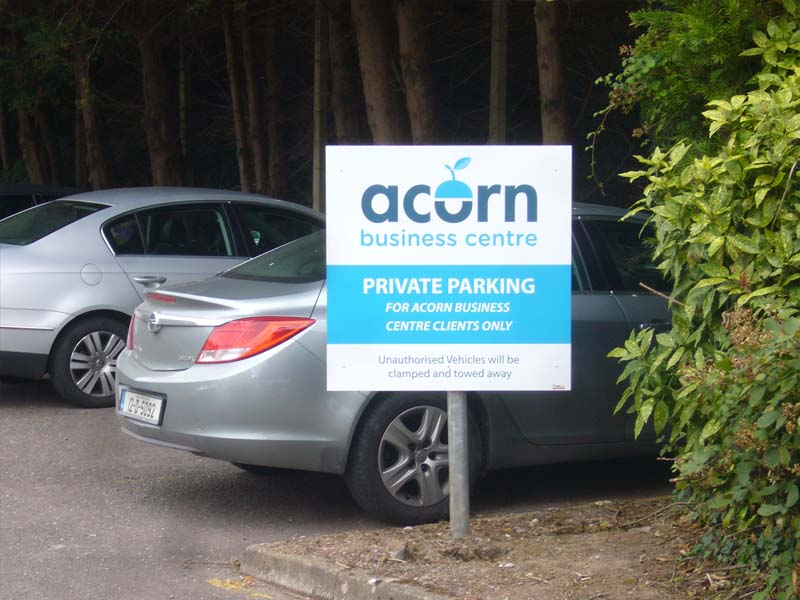acorn car park post and panel