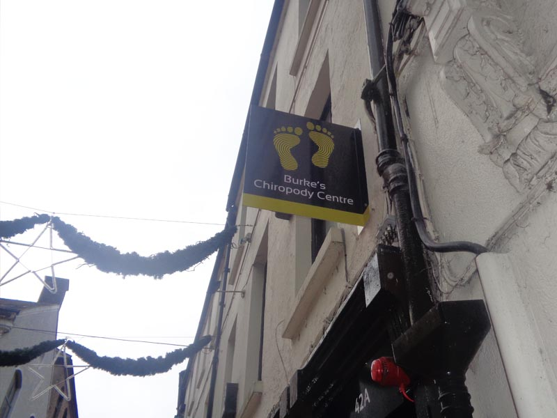 burkes chiropody-projection sign