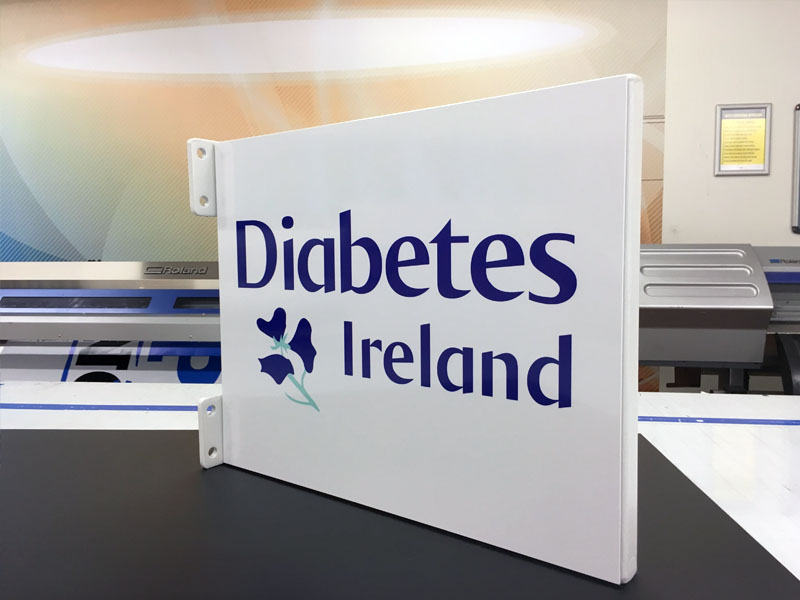 diabetes ireland_folded box projection sign