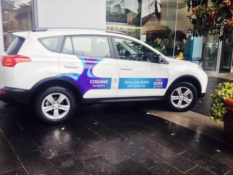 This is Custom Decals we designed and installed for Cogan's Carrigaline