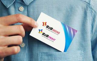 b2b signs business cards