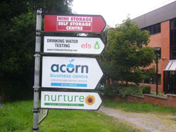 Acorn Centre Directional Sign