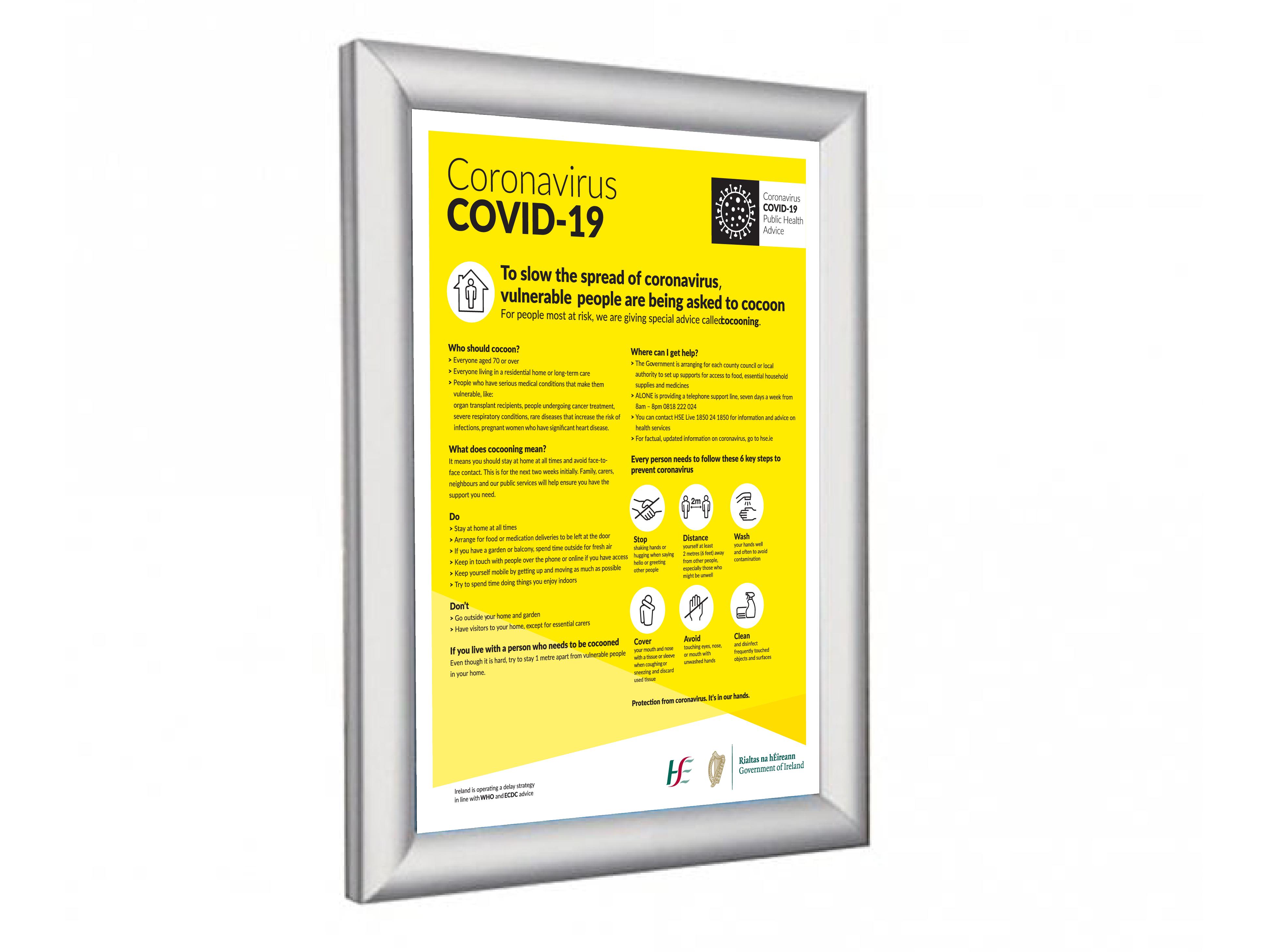 Poster Holder Covid 19