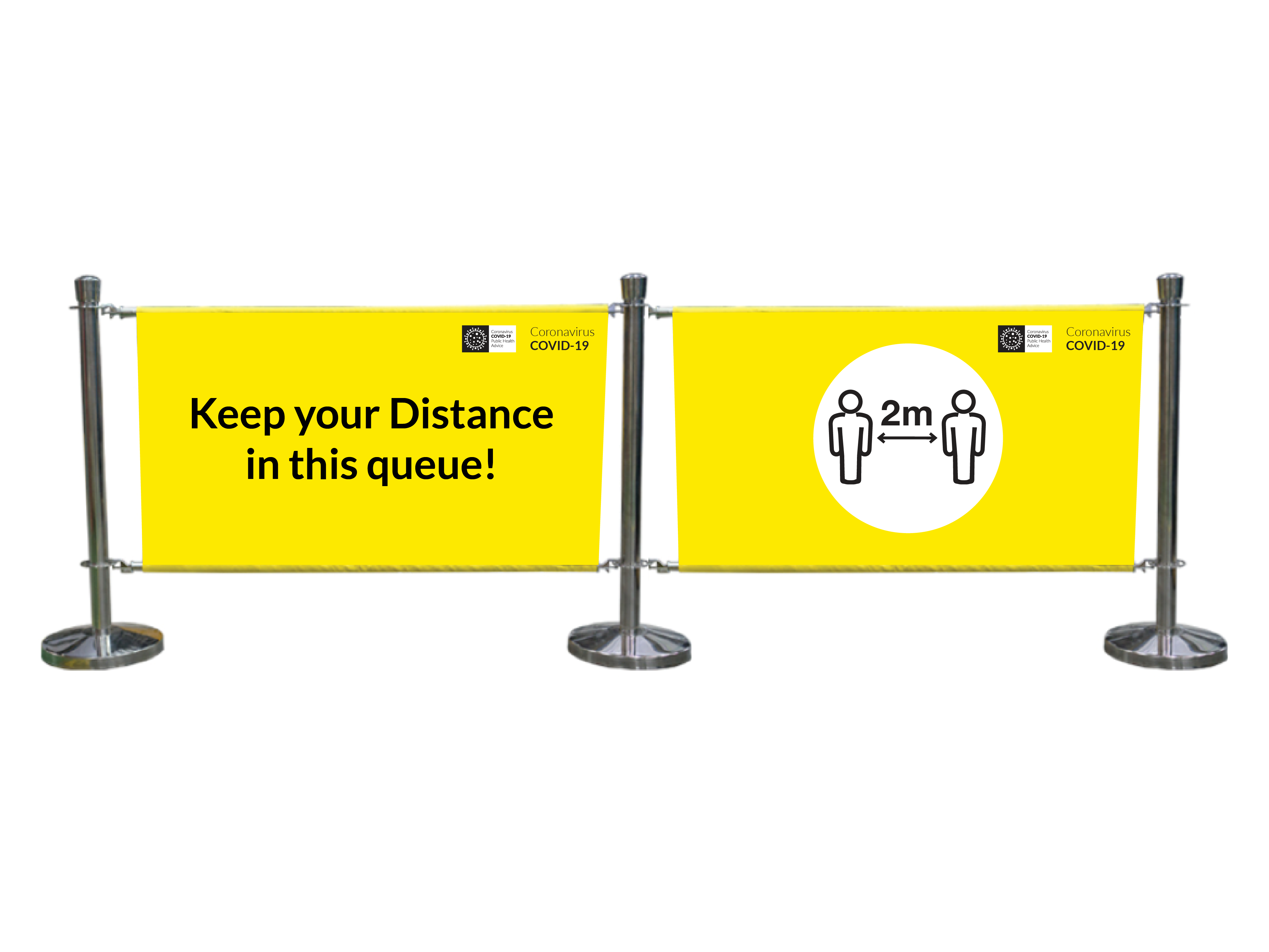 Covid 19 Signs - Cafe Barriers
