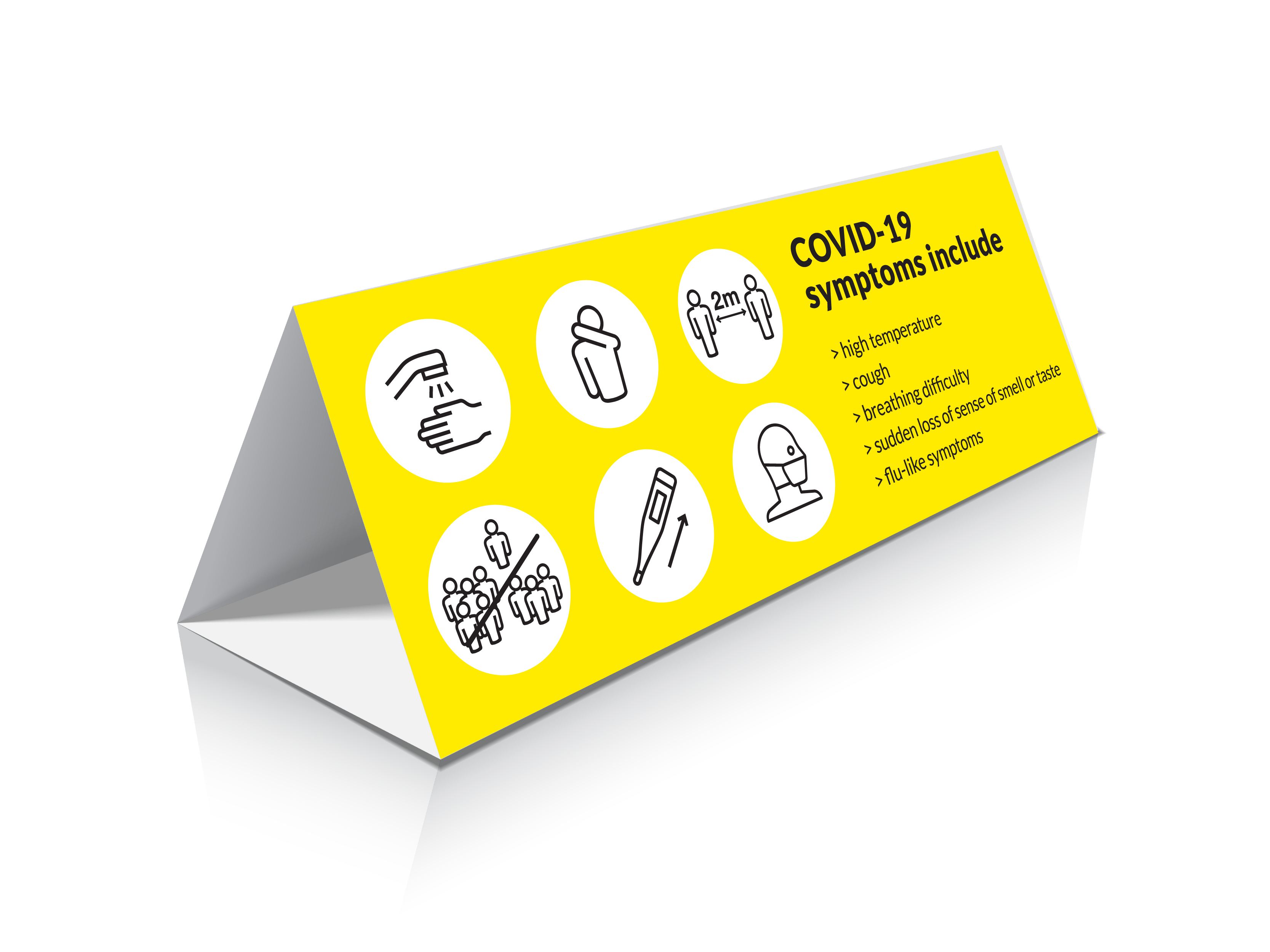 COVID TENT CARD